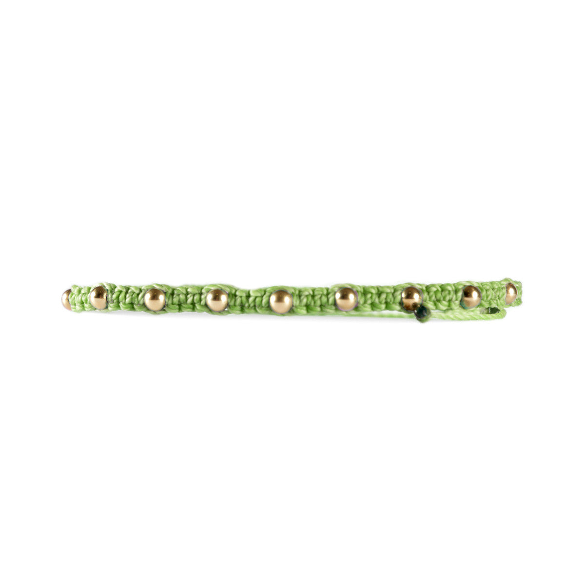 Gold Filled Studded Bracelet Light Green