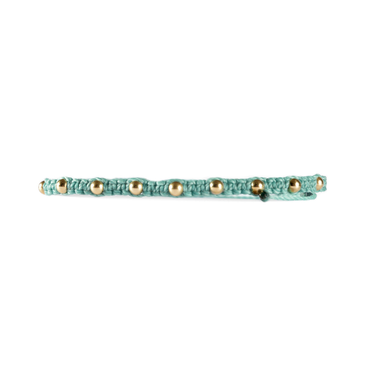 Gold Filled Studded Bracelet Pastel Blue