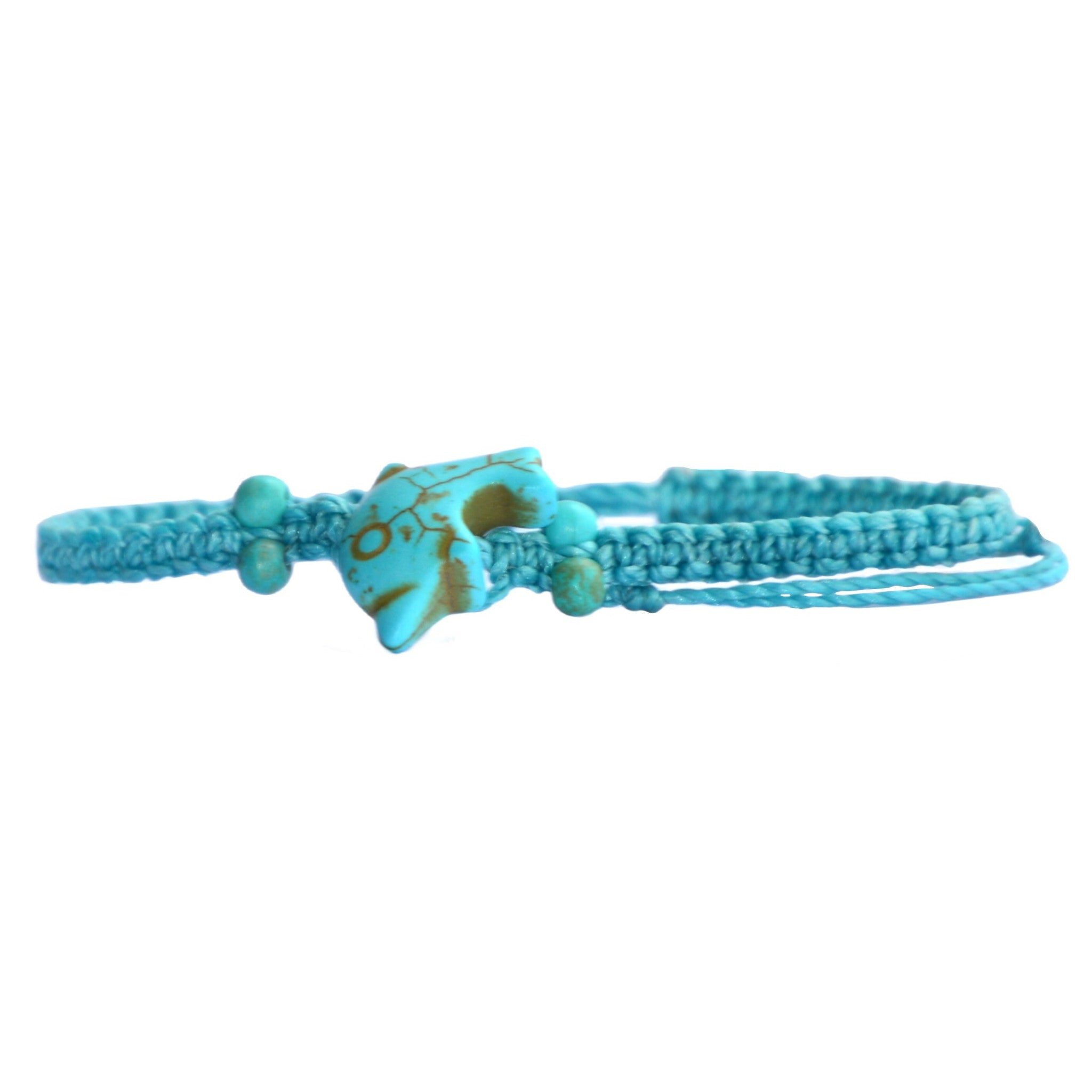 Wholesale Beaded Turquoise Dolphin Bracelet