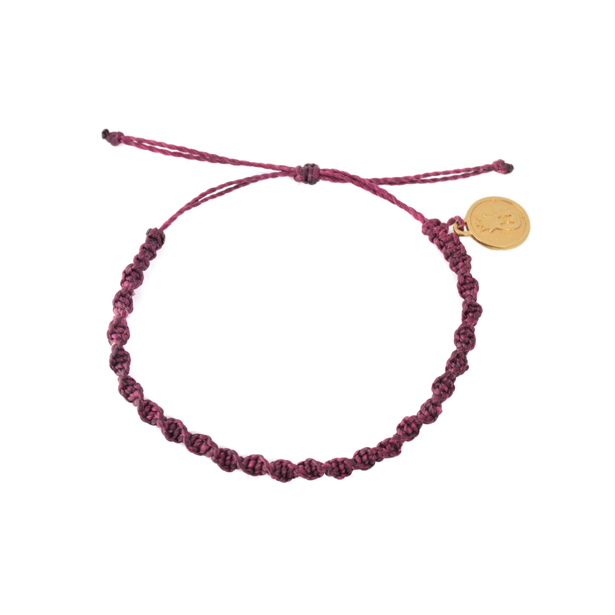 Macrame Twist Bracelet Cherry Purple