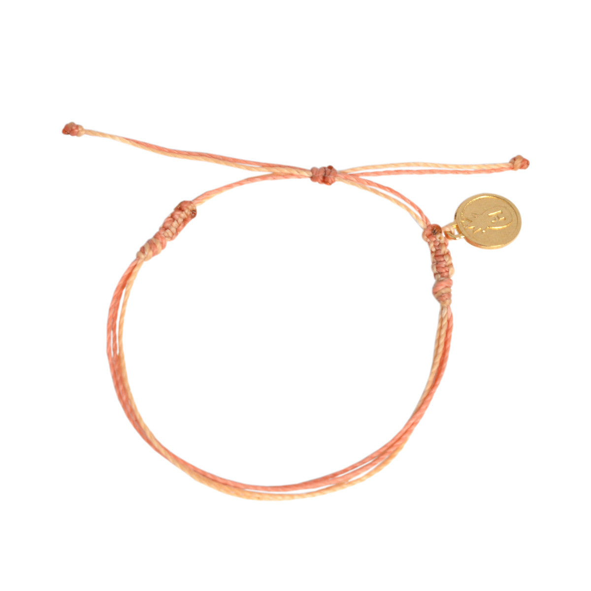 Tropical Coral Beach Ladder Bracelet Stack