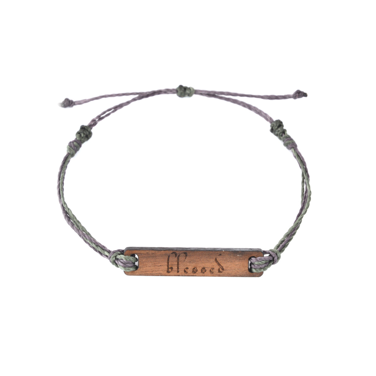 Blessed Wooden String Bracelet