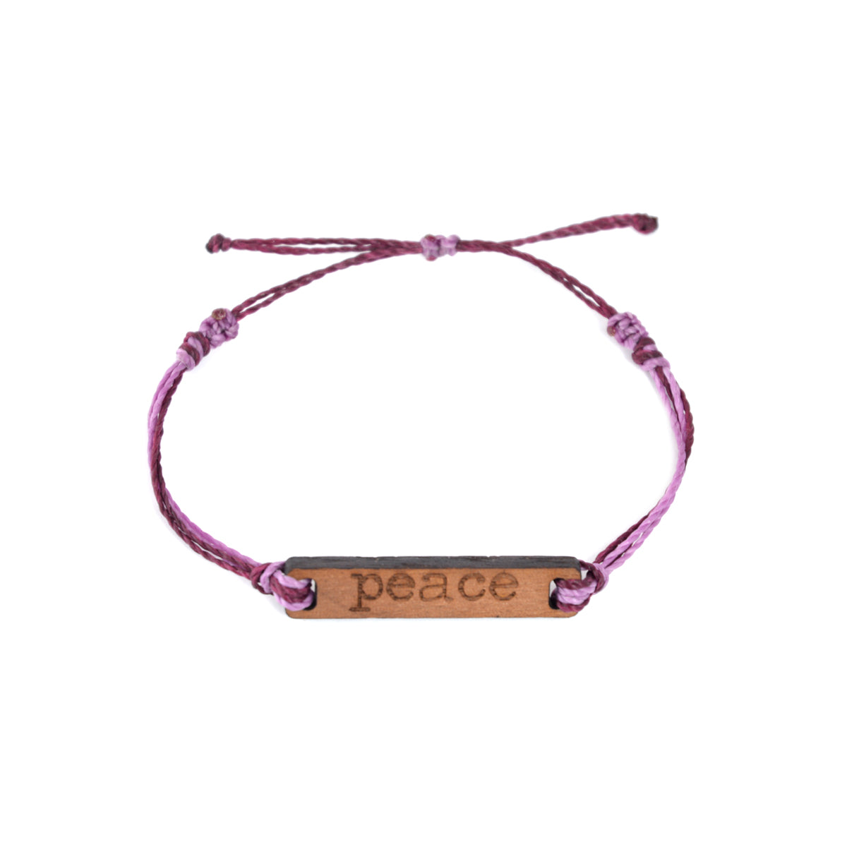 Peace Wooden String Bracelet