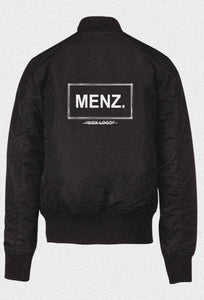 "MENZ. ""BOX LOGO"" BOMBER JACKET"