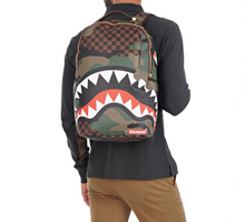 Load image into Gallery viewer, SPRAYGROUND CAMO SHARKS BACKPACK