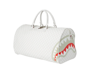 SPRAYGROUND MEAN SHARKS DUFFLE BAG