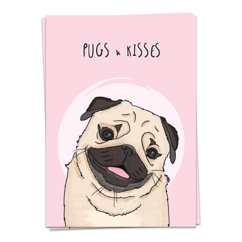 Kaart Blanche Cardimals – Pugs & Kisses