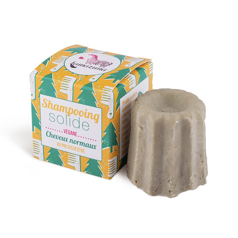 Lamazuna Solid Shampoo For Normal Hair Scots Pine - with essential oils