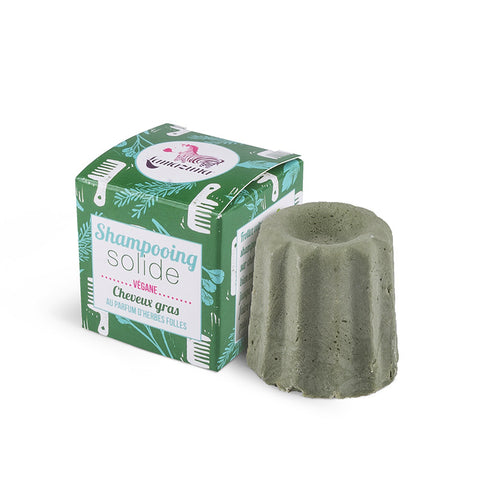Lamazuna Solid Shampoo For Oily Hair Wild Grasses - without essential oils