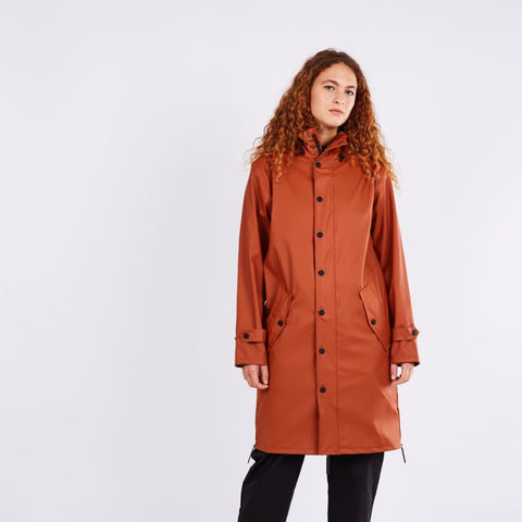 Maium Raincoat or Poncho Ginger Brown
