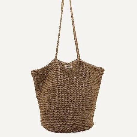 Monk & Anna Tsue Straw Bag