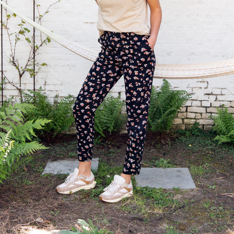 People Tree Candice Floral Trousers