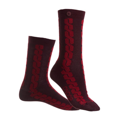 Qnoop Socks Cable Car - Wine Red