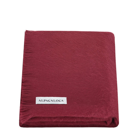 Alpaca Loca Scarf Bordeaux Red