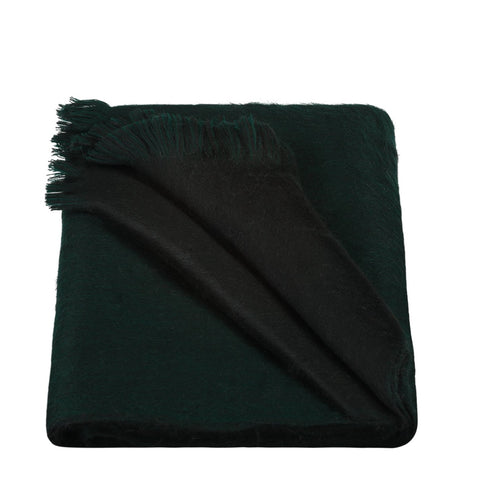 Alpaca Loca Double Scarf Forest Green/Black
