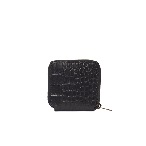 O My Bag Wallet Sonny Square Black Classic Croco Leather