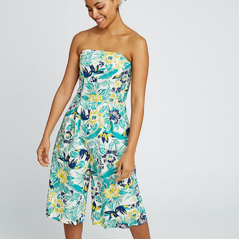 People Tree Tanya Tropical Jumpsuit