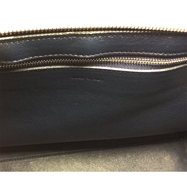 Céline Black & Royal-Blue Medium Edge Handbag