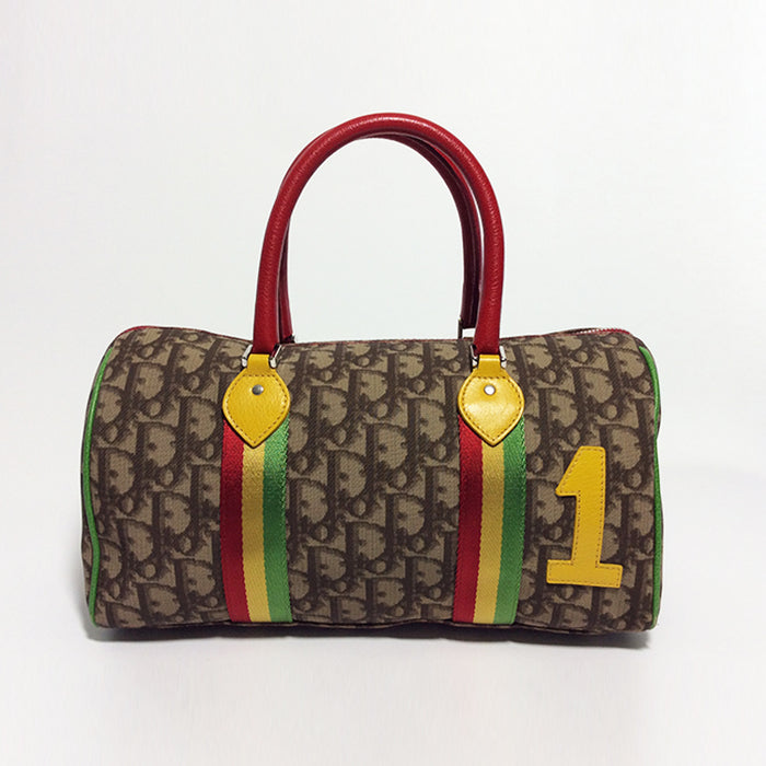 Christian Dior Diorissimo Rasta Boston Bag