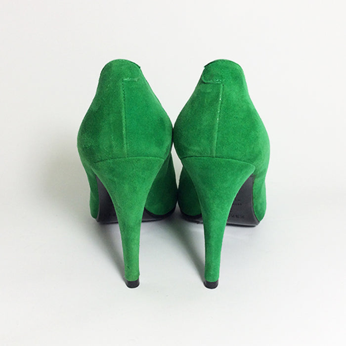Hermes Green Suede Pumps Sz 37 (7)