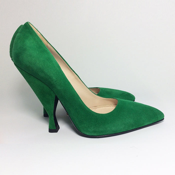 Prada Green Suede Pumps Sz 37 (7)