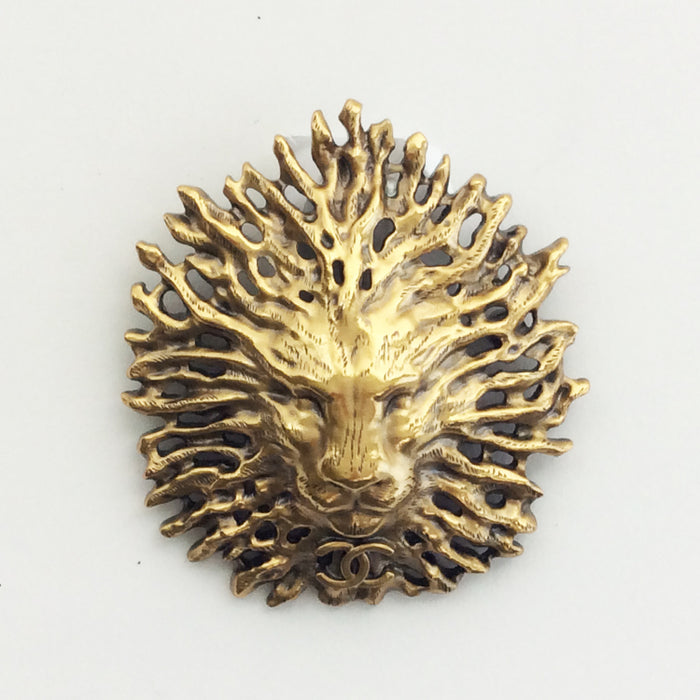Chanel Limited Edition Lion Head Brooch