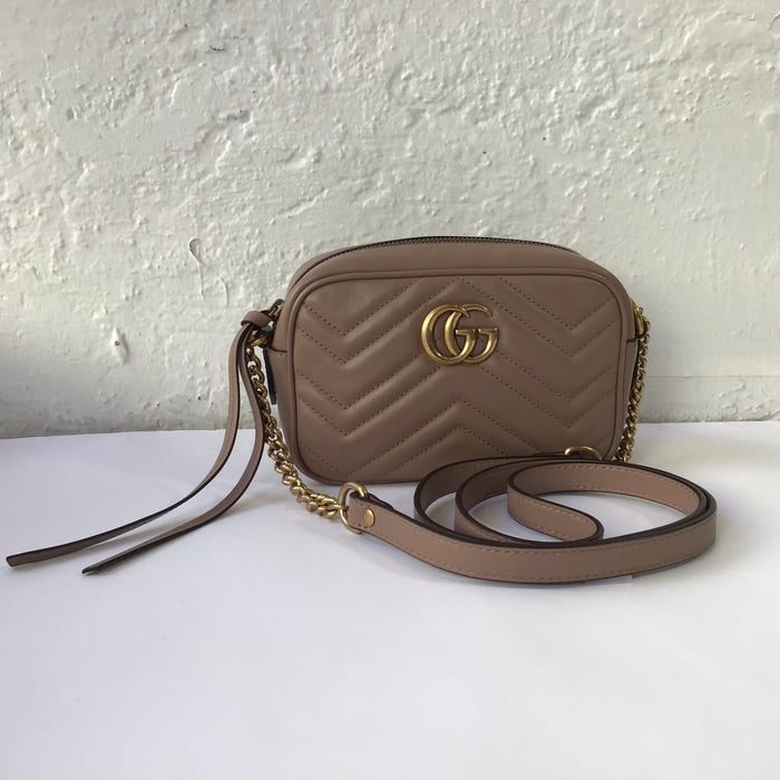 Gucci Marmont Matelassé Mini Dusty Pink