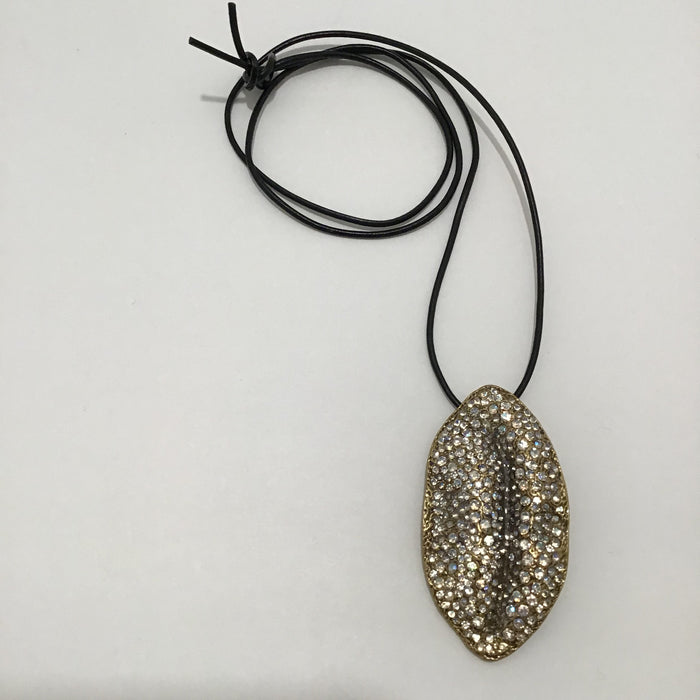 Giambattista Valli Crystal Encrusted Lip Necklace