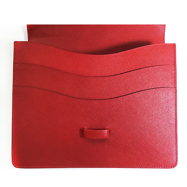 Tiffany & Co. Red Elsa Peretti Bean Design Clutch
