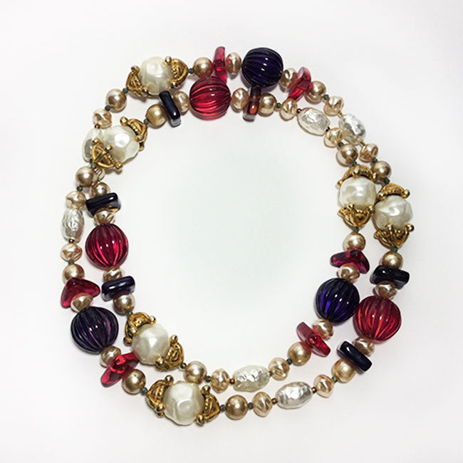 Chanel Multi-Bead & Pearl Vintage Gripoix Necklace