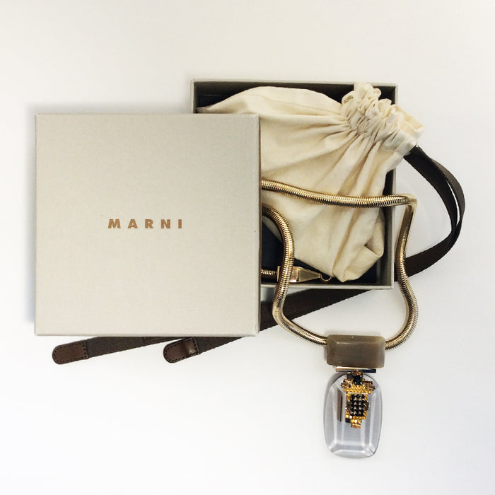 Marni Necklace Lucite Pendent