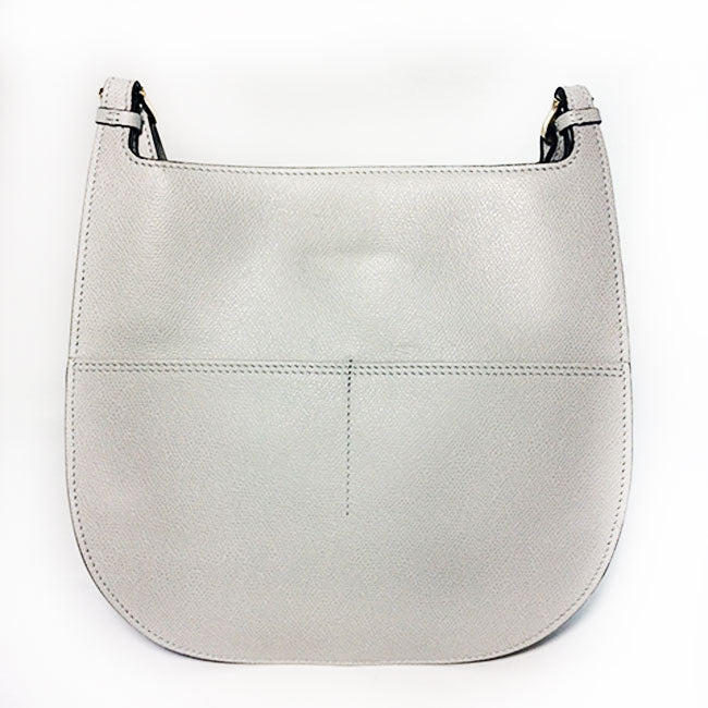 Valextra Grey Textured Leather Hobo Weekend Bag
