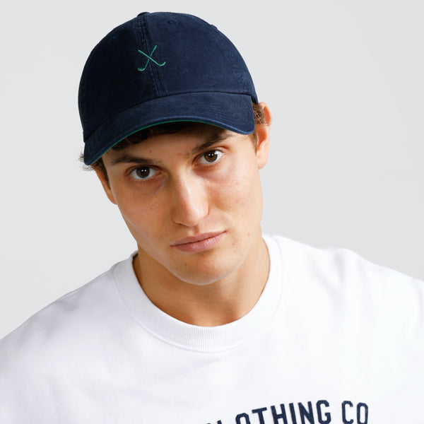 Clubs Cap Navy and Green by ortc Clothing Co USA