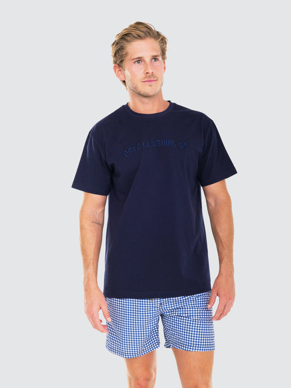 Original Logo T Shirt Navy by ortc Clothing Co USA