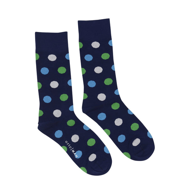 Green and Blue Spots - ortc Clothing Co. - USA