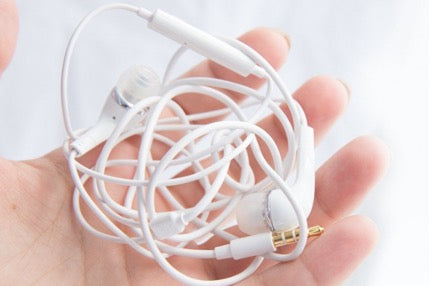 Tangled earbuds