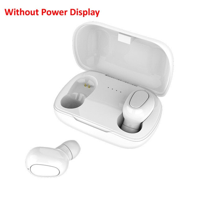 Bluetooth Earphone Wireless Earbuds LED Display 5.0 TWS Headsets Dual Earbuds Bass Sound for Huawei Xiaomi Iphone Samsung Phone