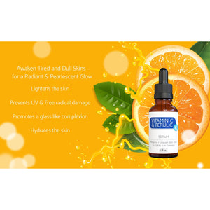VITAMIN C & FERULIC –ALSO  ENRICHED WITH VITAMIN E