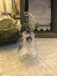 Whimsical bottle with floral