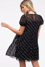 Load image into Gallery viewer, Black Polka Dot Dress