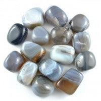 GREY BANDED AGATE - POLISHED/TUMBLED