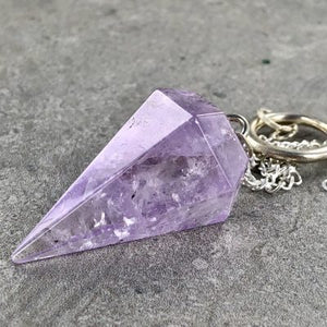 "AMETHYST ""A GRADE"" SIX SIDED PENDULUM"