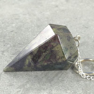 DRAGONS BLOOD JASPER SIX SIDED PENDULUM