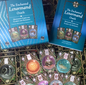 ENCHANTED LENORMAND ORACLE CARDS  - 39 Card Deck and Guidebook