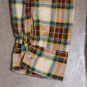 Hand Picked Vintage: Donlin Printed Plaid Cotton Flannel Shirt