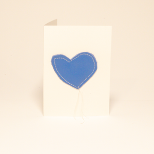 Thank You Have a Good Day Patchwork Heart Card