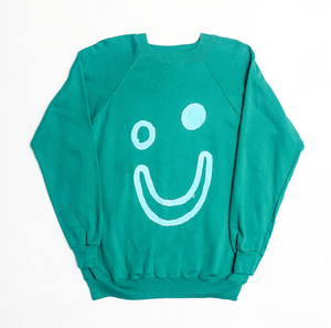 Thank You Have a Good Day Vintage Smile Green Sweatshirt