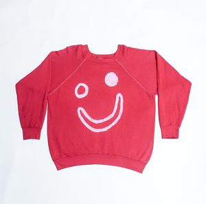 Thank You Have a Good Day Vintage Smile Red Sweatshirt