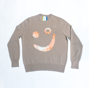 Thank You Have a Good Day Cashmere Patchwork Smile Jumper