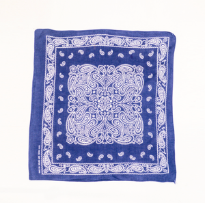 Hand Picked Vintage: Guaranteed Fast Color Blue Cotton Bandana